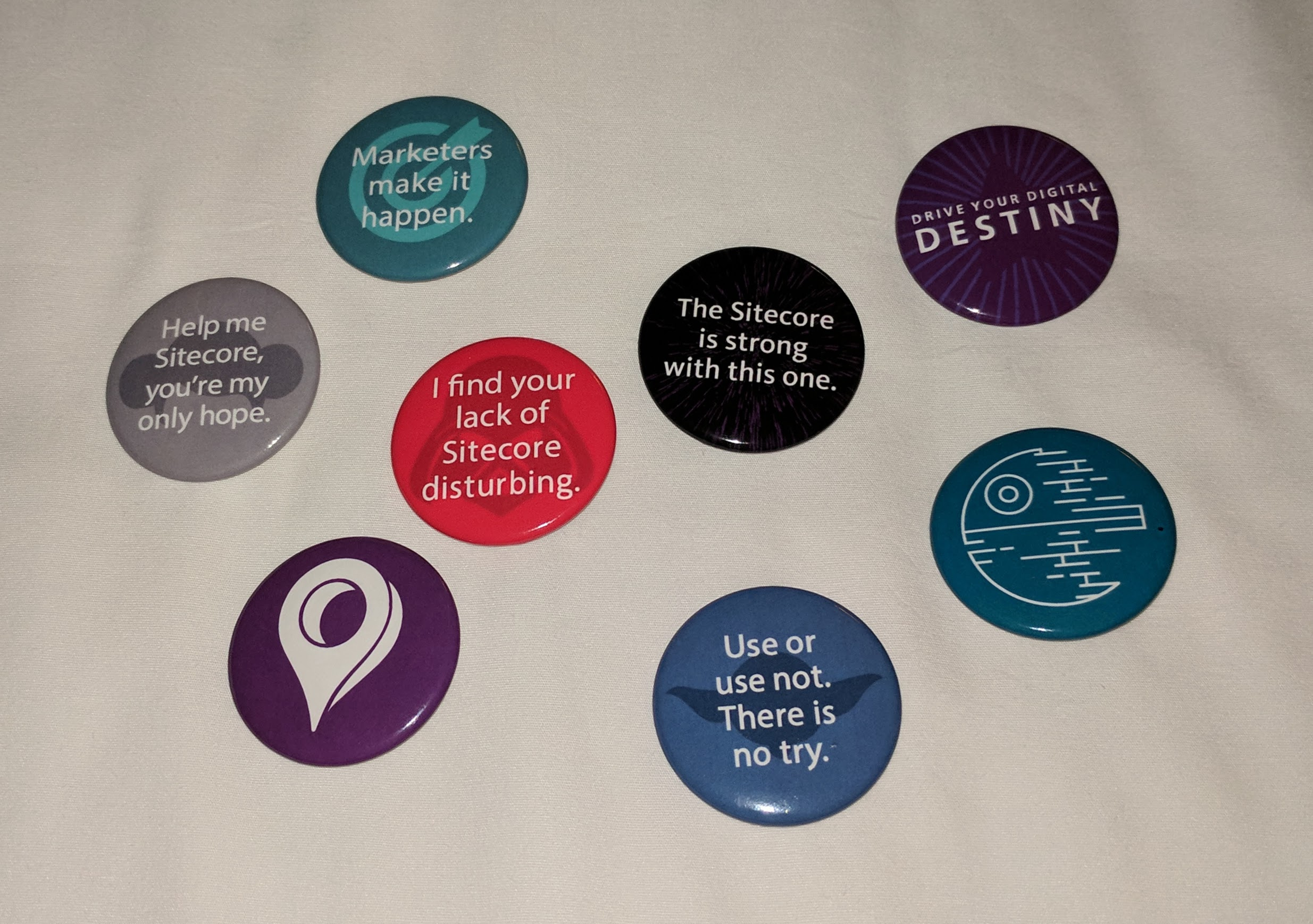 Collection of the Star-Wars-themed Sitecore buttons